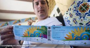 Aficionados comienzan a retirar sus entradas para el Mundial