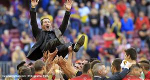 Simeone: «Esto es emocionante, estos chicos han logrado algo histórico para el club»