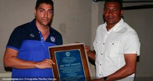 Sanvicente recibió reconocimiento por parte de Mineros de Guayana