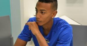 +FOTOS | Jhonder Cádiz fue presentado por el Unión de Madeira