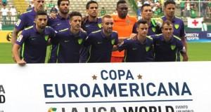Juanpi titular en derrota del Málaga en Colombia