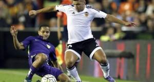 Valencia golea al Málaga del venezolano Roberto Rosales