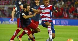 +FOTOS | Adalberto Peñaranda fue titular en derrota del Granada ante el Atlético de Madrid
