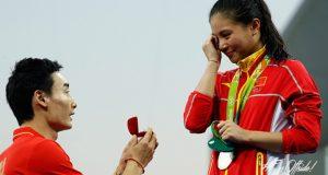 Rio 2016 | La china He Zi acepta la petición de matrimonio de su novio tras ganar plata