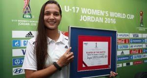 ¡Felicidades! Deyna Castellanos, elegida 'Jugadora Live Your Goals del Partido'