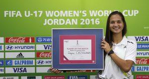 ¡Lo volvió a hacer! Deyna Castellanos, elegida nuevamente 'Jugadora Live Your Goals del Partido'