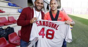 +VIDEO/FOTOS | Pablo Sandoval visitó al Barcelona