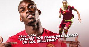 """Paul Pogba: """"Votaría por Daniuska. Marcó un gol bellísimo"""""""