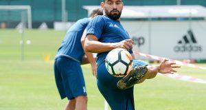 +FOTOS | Tomás Rincón entrena de cara al partido por la Supercoppa italiana