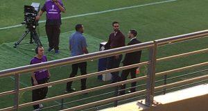 Philip Valentiner acompañó a la delegación del Caracas FC en Chile