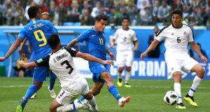 Coutinho rescata a Brasil y condena a Costa Rica