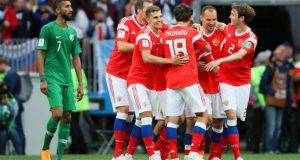 Rusia hace los deberes y gana a Arabia Saudita en el estreno del Mundial