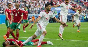 Irán gana a Marruecos en el último minuto