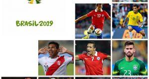 Once candidatos para recibir el Balón Educativo de Scholas durante la Copa América Brasil 2019