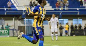 Yeiber Murillo anota su primer gol en Paraguay