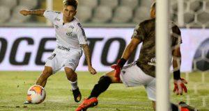 Soteldo elegido mejor jugador del partido en empate del Santos con Olimpia